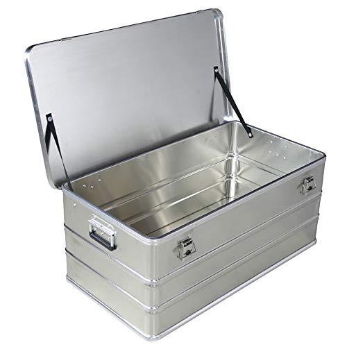 Caja de aluminio de 140 litros de capacidad, caja de transporte, caja de almacenamiento, caja industrial, caja de aluminio